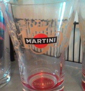 Набор бокалов Мартини + один для Чинзано