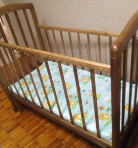 Детская кровать-маятник +матрац