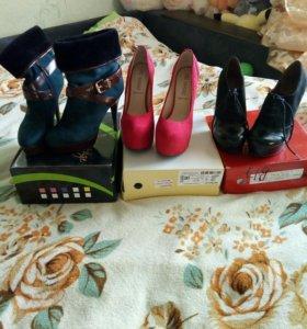 Обувь 37р-р(цена за все)