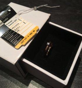 Кольцо с бриллиантом 16р.