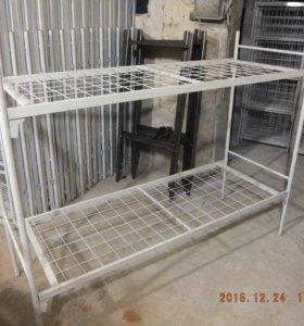 Металлическая двухъярусная кровать с усиление 2н1у