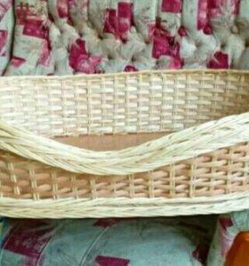 Плетеная лежанка для собак или кошки!!!