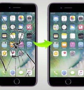 Замена дисплея на iPhone 4,5,6,7,8 дисплей+работа!