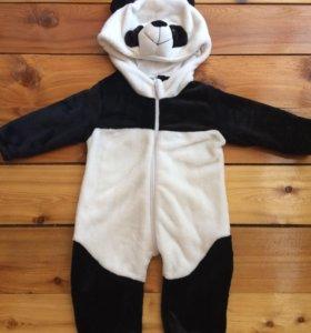 Тёплый комбинезон панда