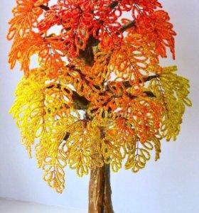 Цветы и деревья из бисера на заказ