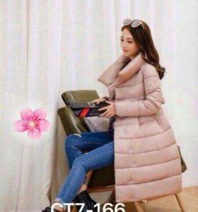 Куртка-пальто снежинка, халофайбер