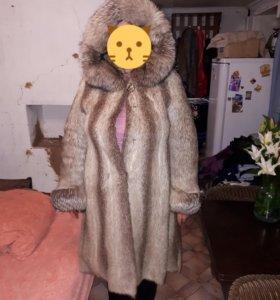 Шуба нутрия-чернобурка