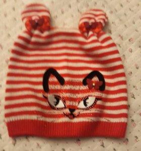 Детская осенняя шапка на5-6лет