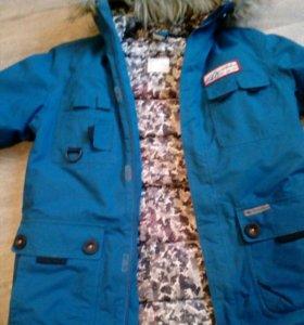 Куртка детская для мальчика зимняя.