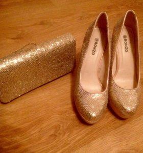 Комплект туфли и клатч