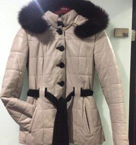 Куртка кожаная 44-46 размер