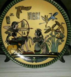 Тарелка сувенир из Египта Семейное счастье