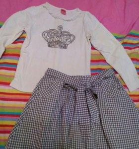Комплект (юбка + кофточка)состав хлопок
