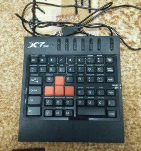 Игровая клавиатура A4Tech X7-G100 USB Black