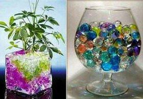 Гидрогель цветные шары