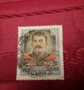 Продаю марку Сталина 1954 год