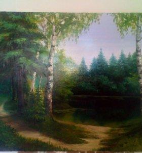 Картина маслом на холсте.
