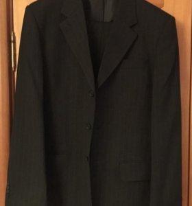Костюм мужской, пиджак-брюки, чёрный р.48
