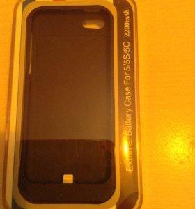 Чехол аккумулятор для айфон 5,5S,5C