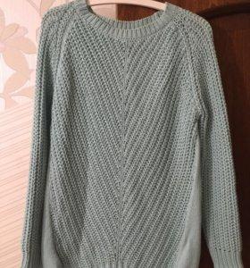 Mango свитер мятный