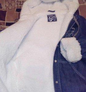 Куртка джинсовая, зимняя.(Глория джинс).