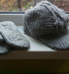 Комплект: шапка+рукавицы