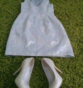 Платье 42-44 р и туфли 36 р.