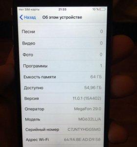 Продаю телефон айфон 6 на 64 Гб