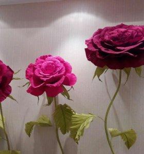 Интерьерные большие цветы