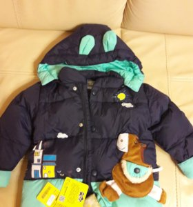 зимний комплект Новый 92 р-р +шапка с шарфом новые