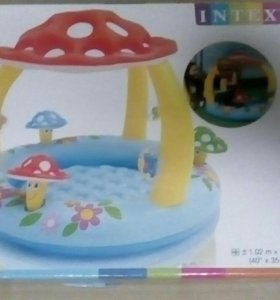 Детский надувной бассейн грибок