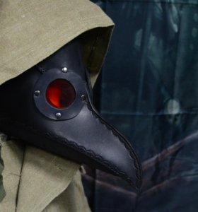 Чумной доктор, кожаная маска