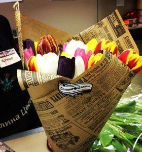 Тюльпаны-Доставка 24 часа!