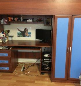 Рабочий стол,шкаф,кровать