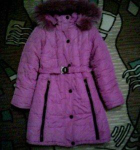 Куртка(зимняя)удлинённая,шапка в подарок.
