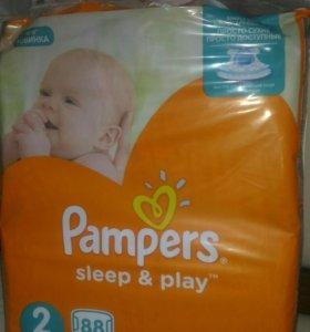Подгузники р. 2 памперс ( Pampers sleep&play )
