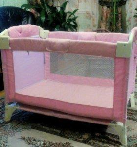 Детская кроватка-манеж 2в1