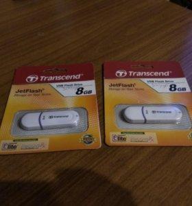 Transcend флеш накопитель на 8Gb