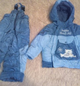 Зимний костюм, рост 86-92, с 1 года до 3 лет