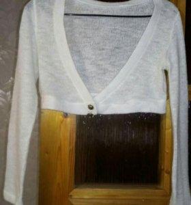 Кофта Болеро шерстяное белое отл сост 42-46