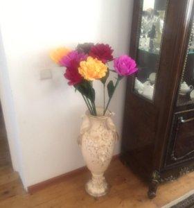 Цветы на вазу