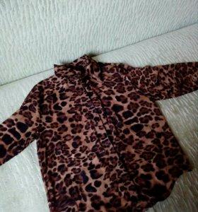 Блузка шифоновая новая леопард