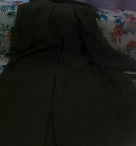 Пальто легкое ,велюровое, светло-коричневое