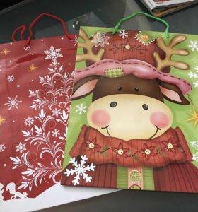 Пакет подарочный на Новый год