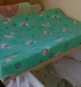 Доска пеленальная Гном на кровать