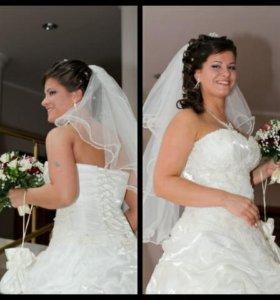 Свадебное платье (бежевый айвори).