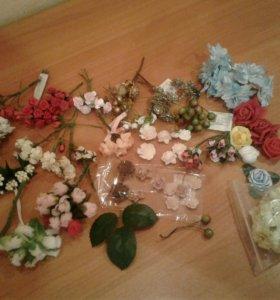 Цветочки и букетики для скрапбукинга
