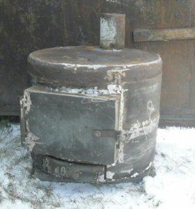Печь металлическая для гаража (дачи)