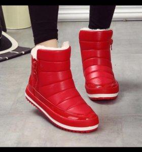 Зимние ботинки новые!!!!