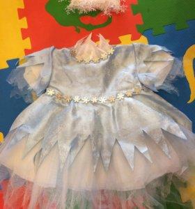 Новогоднее платье «снежинка»